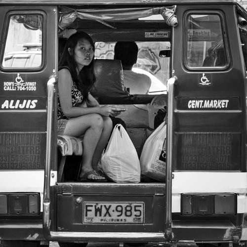 street filipina jeepney public transport bacolod city philippines