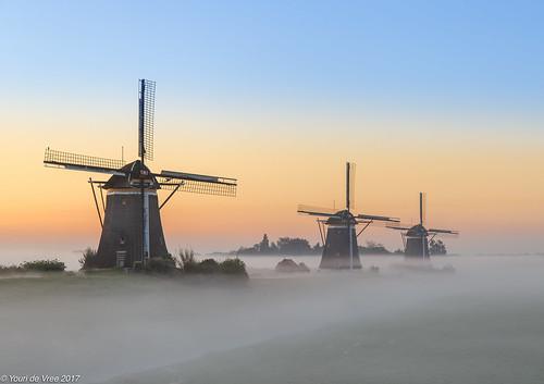 sunrise fog mill netherlands