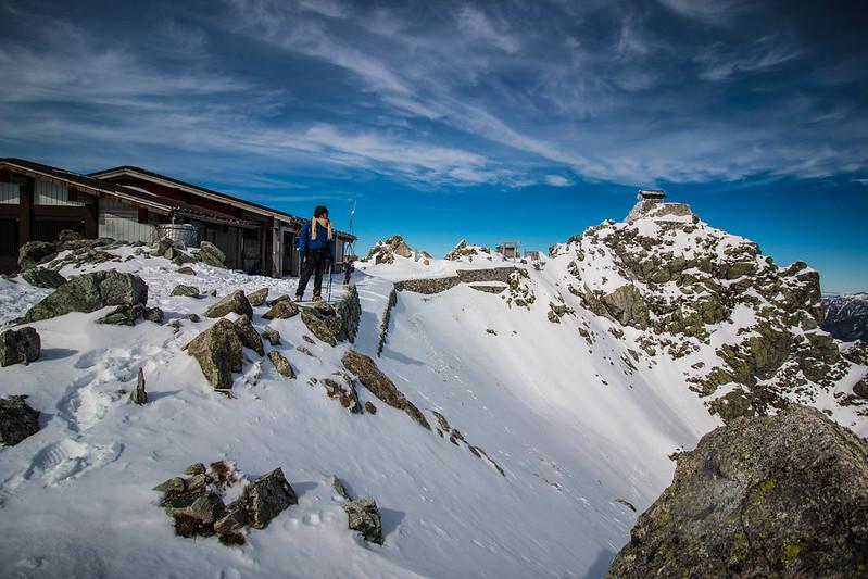 11月の立山の山頂で寂しくなる