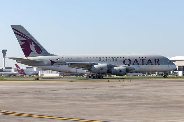 Qatar Airways Airbus A380-800 A7-APF [LHR]