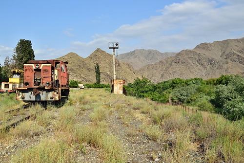 iran railways ironcurtain border armenia station former rostamnovak