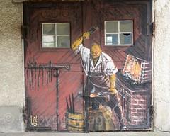 Blacksmith Door Painting (2012), Büsingen am Hochrhein, Germany