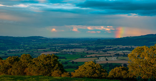 d750 landscape midwales panorama clouds wales vista rainbow britain hills tree montgomery sky green shropshire rain uk powys unitedkingdom gb