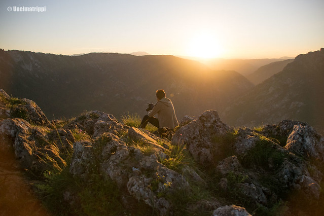 Auringonlasku Durmitorin kansallispuistossa