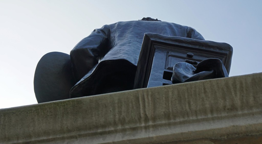 Statue of Sir John Everett Millais by Thomas Brock, 1904, John Islip Street, London