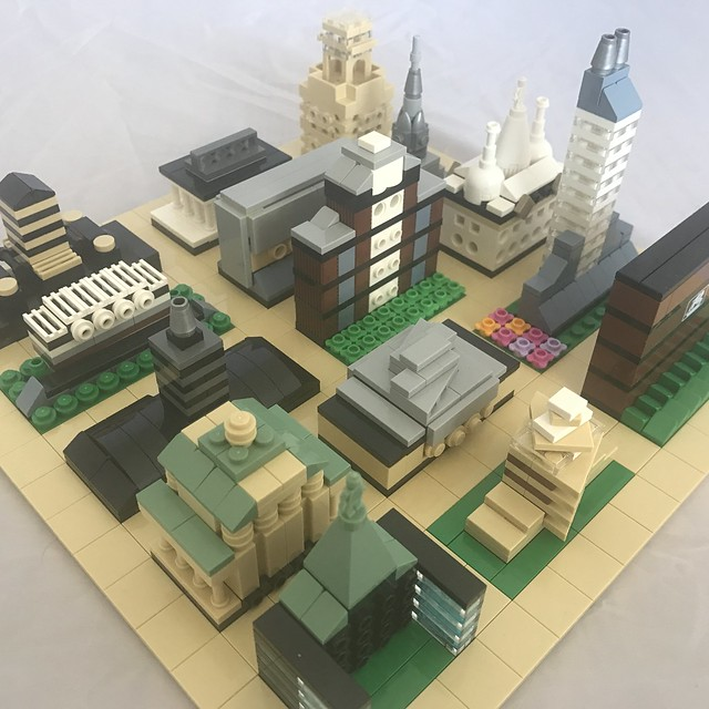 Micro Town made with old set
