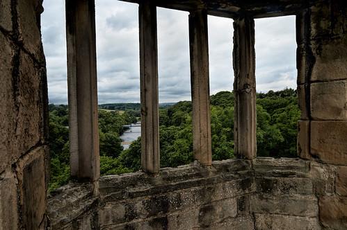 barnardcastle countydurham england gb rivertees window castle river englishheritage