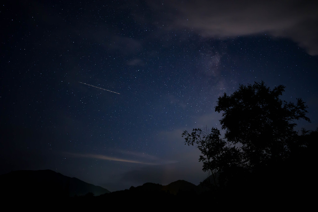銀河もみじキャンプ場での星