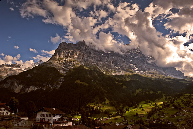 Twilight time on Grindelwald and the Mighty Eiger.  In the memory of the amazing Ueli Steck (4 October 1976 – 30 April 2017 ) .No. 9000.