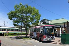 まちなか周遊バス「ハイカラさん」「あかべぇ」も利用できる