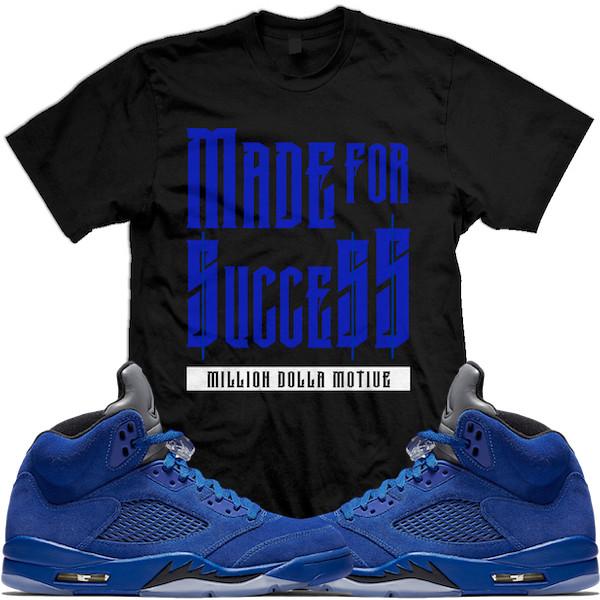 49311c81f802bd ... Air Jordan 5 Blue Suede sneaker tees shirts