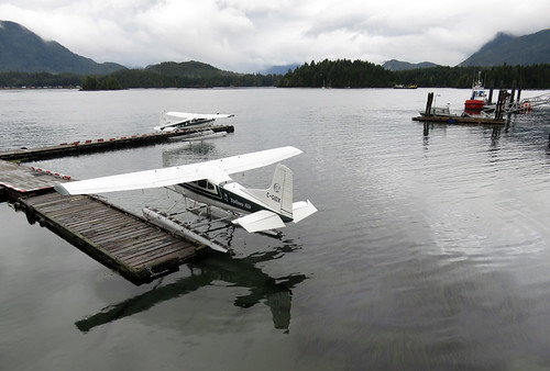 The float plane dock in Tofino