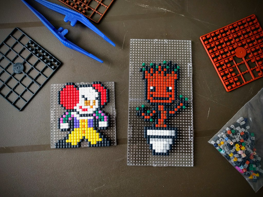 Pennywise And Baby Groot Made With Pixel Hobby Flickr