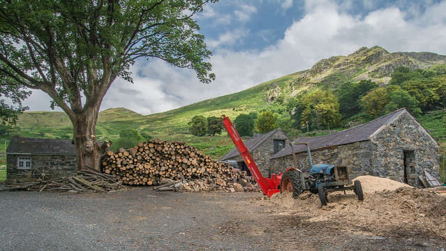 Old Wood Mill In Snowdonia