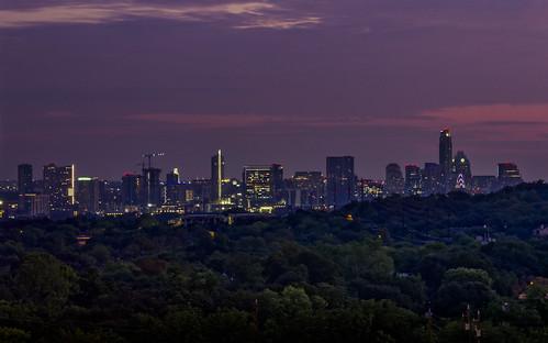 twilight austin texas sunrise downtown haze hazy humid pink blue