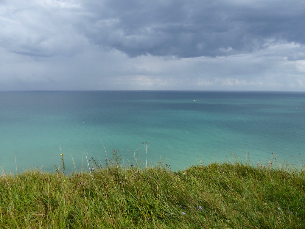 Rain clouds out to sea Dover to Deal walk