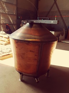 1200 litre Still for Winding Road Distilling under construction. | by burnswelding