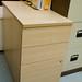 Maple desk high pedestal  E75