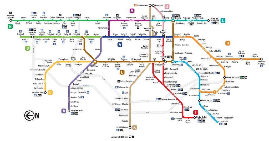 Mapa Transmilenio Bogota 2019