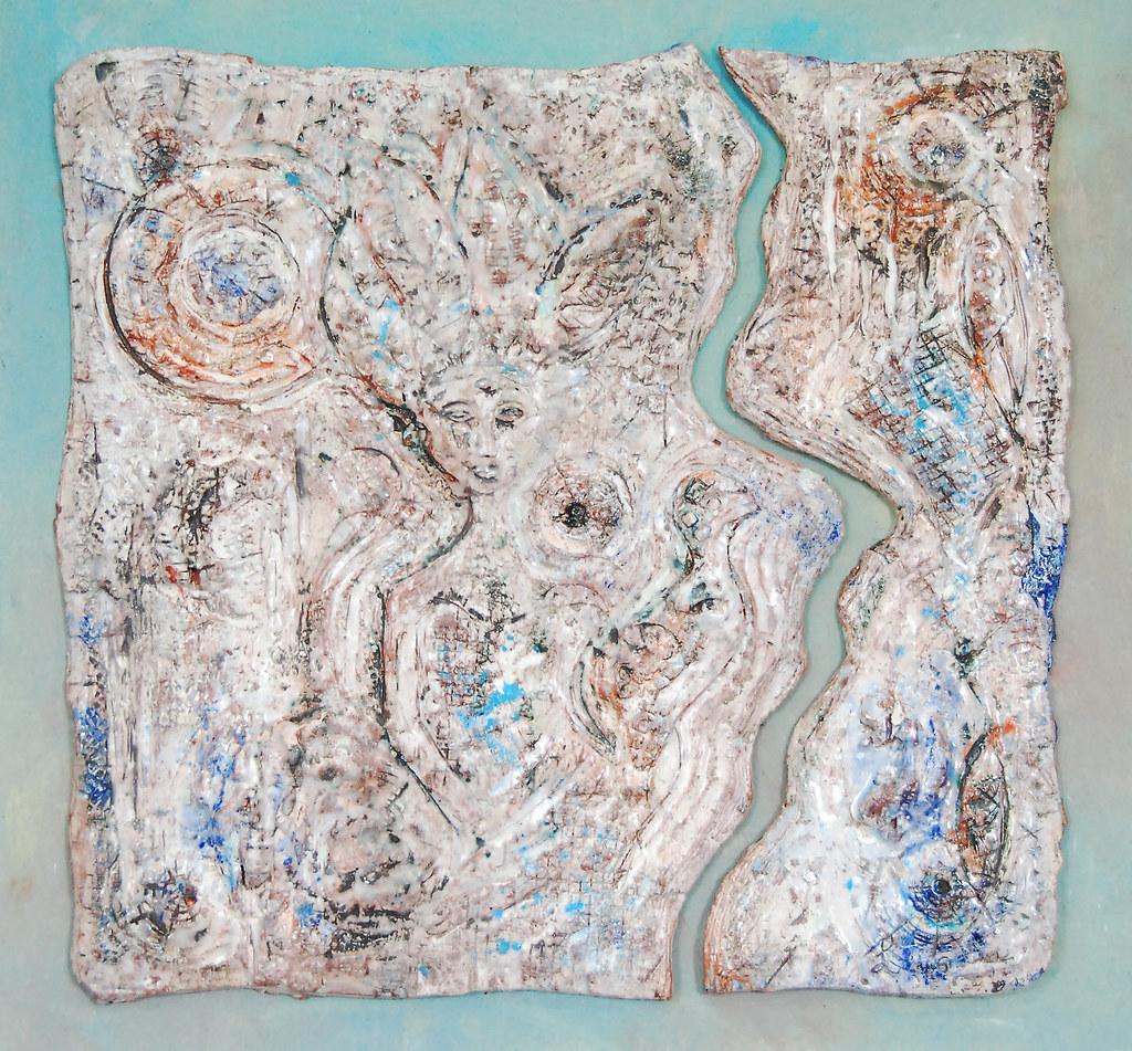 Leonnie van Eert, 'Boskopu', ceramic relief, 50x51x3cm, 2016 - USD 350