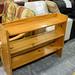 Natural pine open shelf unit E50