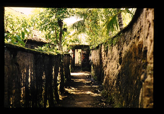 A Lane Surround With Soil Wall In A Bali Village = バリの農村の旧家の土塀