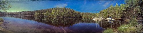 lappeenranta southkarelia finland fi satamosaari imatra fintravel appleiphonese iphonese topaztextureeffects topaz texture textureeffects lake landscape saimaa