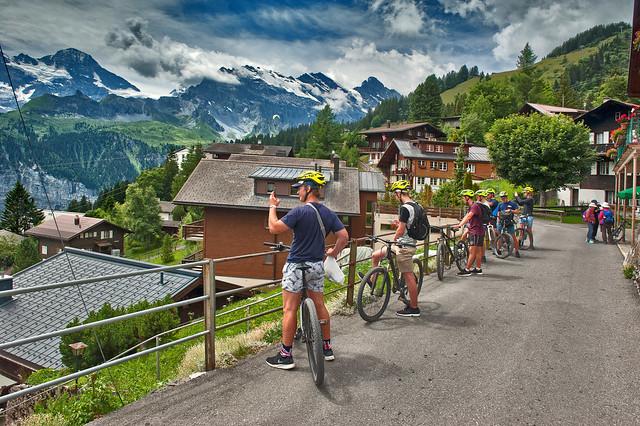 Murren , Canton of Bern Switzerland. Suisse summer time.No. 492.