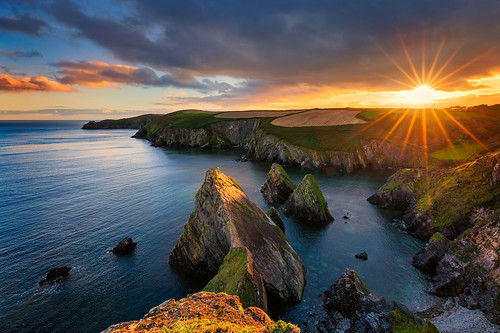 wybrany sun sunset sunlight rocks bay ireland cork clouds light beautiful beauty rock water sea seascape ocean