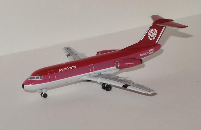 Aeroclassics AeroPeru F-28-1000 OB-R-1019 Front 3/4