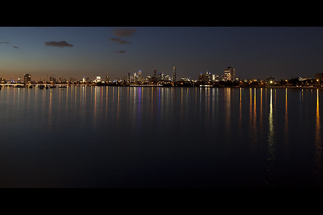 Melbourne as seen from St. Kilda