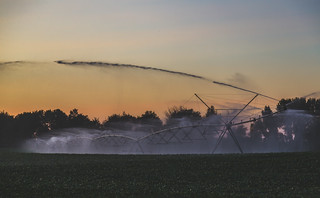 Farmland Sunset - Crop Irrigation System - Wisconsin | by Tony Webster
