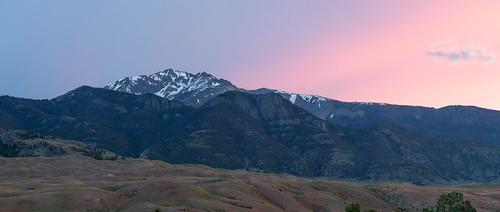 gardiner montana usa sunset panorama