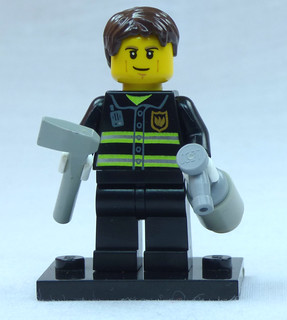 Brick Yourself Custom Lego Figure Determined Firefighter | by BrickManDan