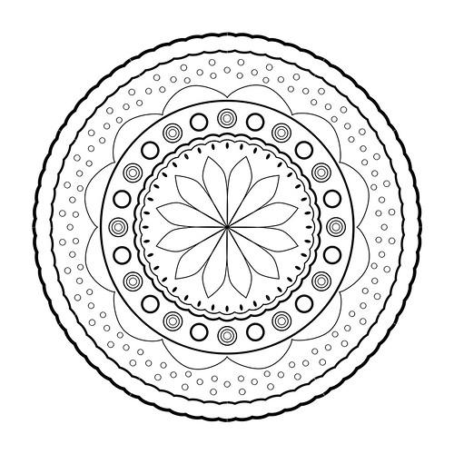 Mandala 02   by gessamidato