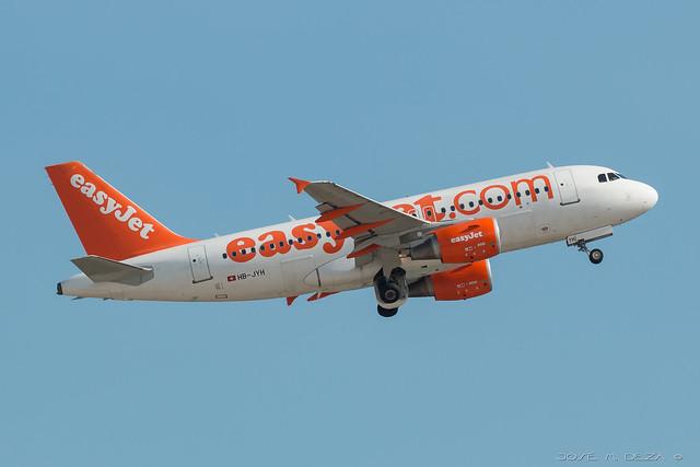 Easy Jet A319-111 HB-JYH