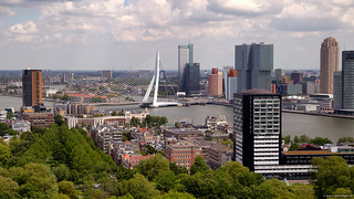 Rotterdam - the old Shipping Quarter, Erasmus Bridge and South Head | by John Riper