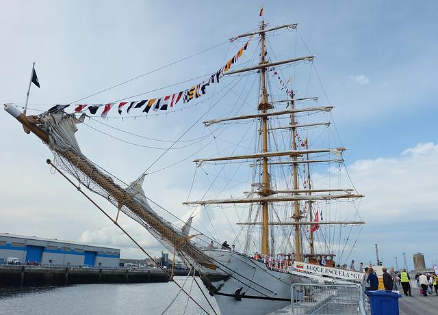 Buque Escuela Guayas at Tall Ships Belfast 2015