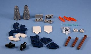 70348 Nexo Lance Twin Jouster - Interesting parts | by koffiemoc