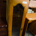 Small oak veneer slim glass display unit E25.00