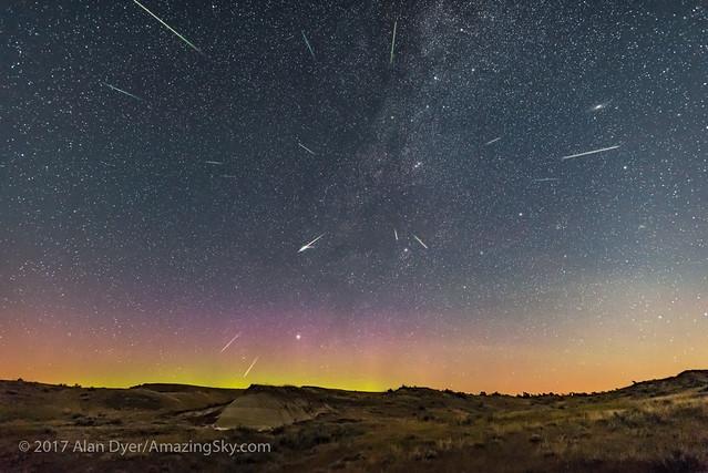 Perseid Meteor Shower at Dinosaur Park (Tracked)