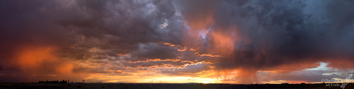2017 albuquerque august clouds sunset drama storm orange sky weather