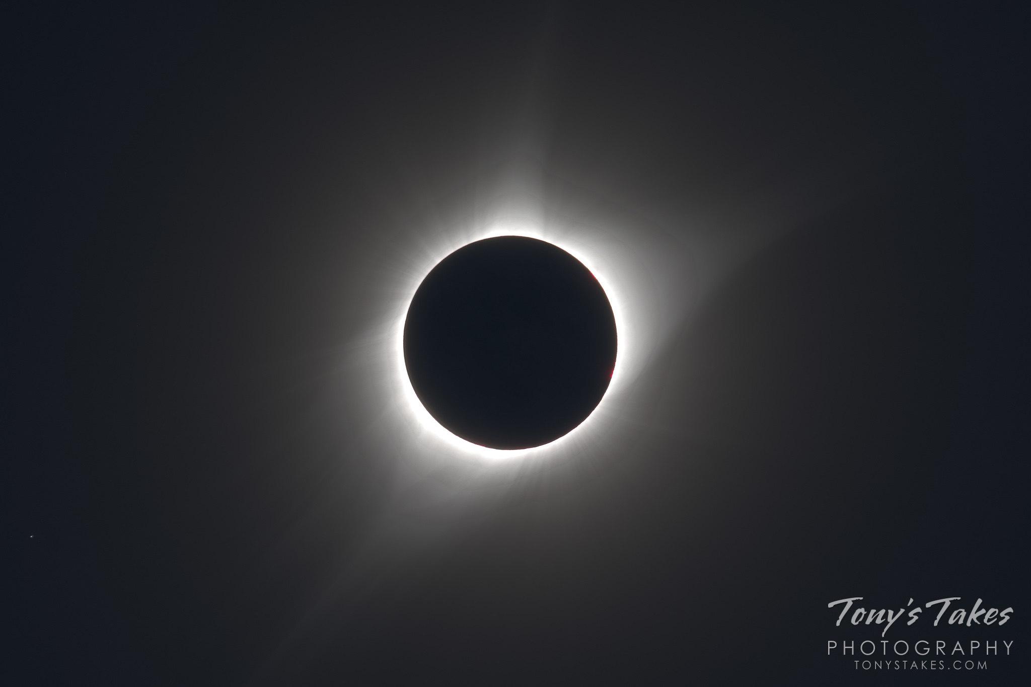 Solar eclipse provides prime corona viewing