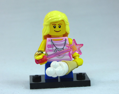 Brick Yourself Custom Lego Figure Girl with Fairy Wand and Ice Cream | by BrickManDan