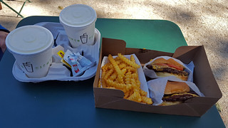 Lunch at Shake Shack, Madison Square Park, NYC