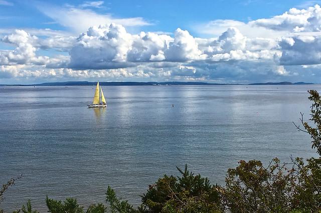 Sailboat on the Severn Estuary