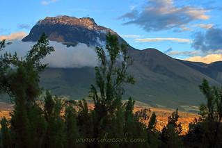 An Imbabura Volcano Sunset