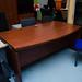 Cherry executive L shape desks set