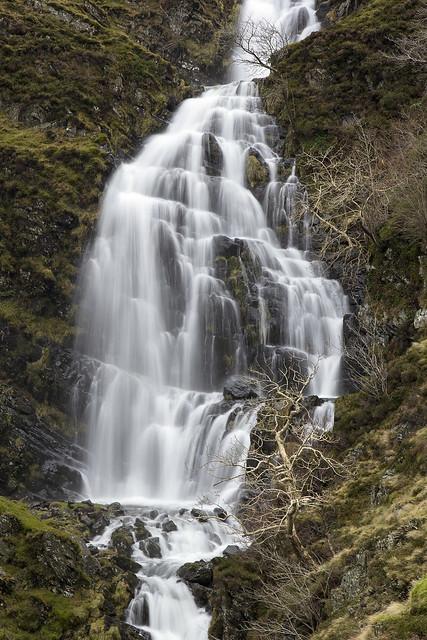 Part of Cautley Spout, Howgill Fells near Sedbergh, Yorkshire Dales National Park, Cumbria, UK