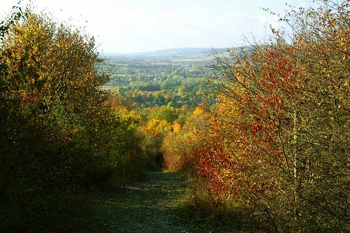 View from hill above Otford